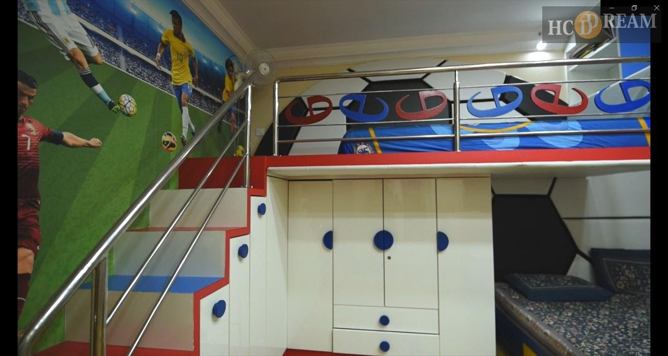 Football themed Kids Room Interior Designers in Bangalore